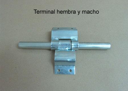 Terminal Hembra y Macho